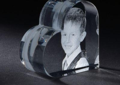 Glasgravur Glasherz klein
