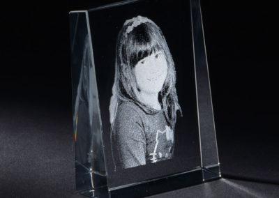 Glasgravur Glasstein
