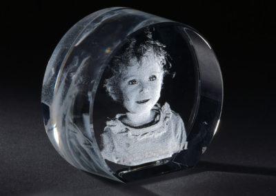 Glasgravur Rundglas