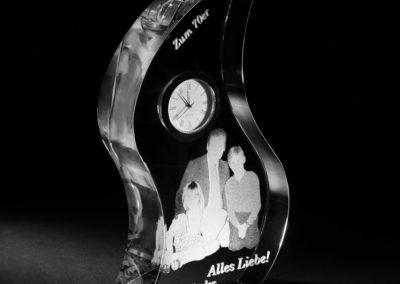 Glasgravur Uhr